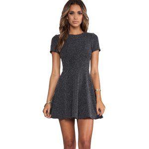 TIBI Birdeye Knit Dress Fit & Flare Black/White 2